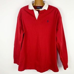 vintage polo by Ralph Lauren red white polo shirt